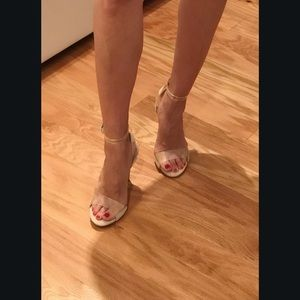 Kendall Kylie Nude Clear Enya high heel shoes 5.5